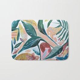 Botanical Green Leaf Jungle Bath Mat