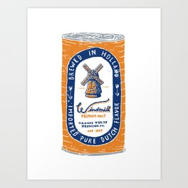 Windmill Premium Malt Art Print