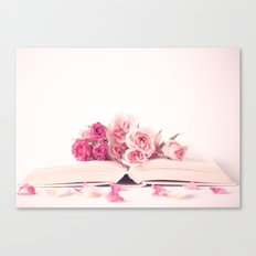 Wide Open Book Of Love Canvas Print