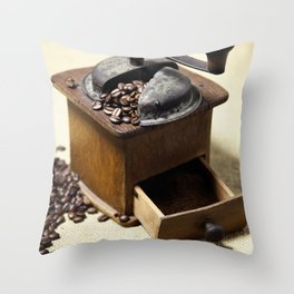 coffee grinder 6 Throw Pillow