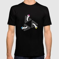 Cosmic Apples Mens Fitted Tee MEDIUM Black