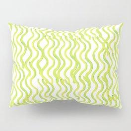 Lime Zest Green Wavey Pillow Sham