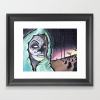 Dia De Los Muertos themed painting by Adam Valentino Framed Art Print