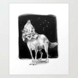 Libra Wolf Art Print