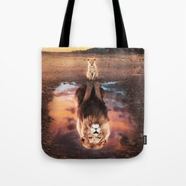 Lion Son And Dad Tote Bag
