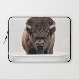 Buffalo in a Vintage Bathtub (c) Laptop Sleeve