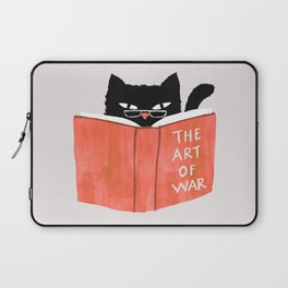 Cat reading book Laptop Sleeve