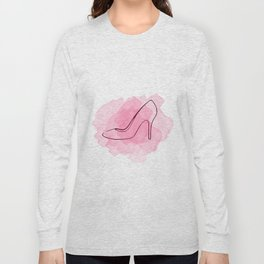 Pink Shoe Long Sleeve T-shirt