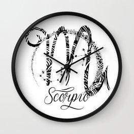 Scorpio Zodiac Sign October November Birthday Gift Wall Clock