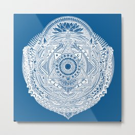 Metamorphic (ocean blue) Metal Print