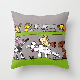 CuteAnimals Throw Pillow