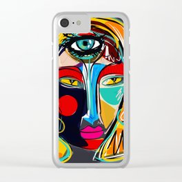 Looking for the third eye street art graffiti Clear iPhone Case