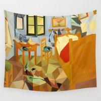 van gogh Wall Tapestries featuring van gogh by gazonula