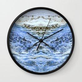 Snowy Winter Landscape Wall Clock