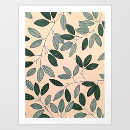 Blue Sage Art Print