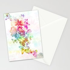 paisley flutter Stationery Cards