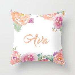 Ava Florals Throw Pillow