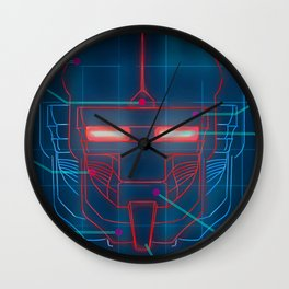 Neon Schematics Wall Clock
