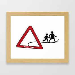 walkAway Framed Art Print