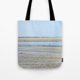 A flock of seagulls in the bay Tote Bag