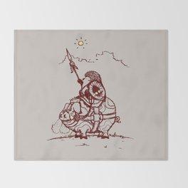 Nature Warriors: Battle Hedgehog Throw Blanket