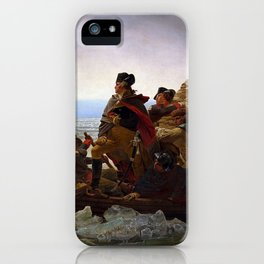 George Washington Crossing Of The Delaware River Painting iPhone Case