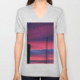 Sunset Tower Unisex V-Neck