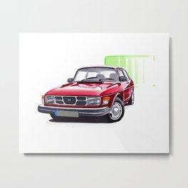 Saab 99 Metal Print