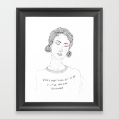 DoodleGirl Four Framed Art Print