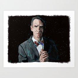 """""""The Science Guy"""" Digital, 2018. Original Digital Watercolor Painting, Bill Nye Art Print"""