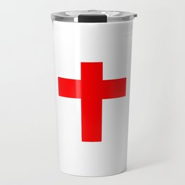 Christian Cross 10- red Travel Mug