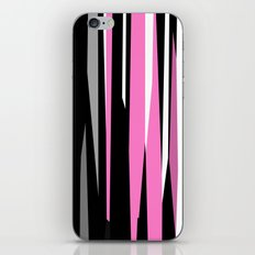 Pink White Gray and Black abstract iPhone & iPod Skin