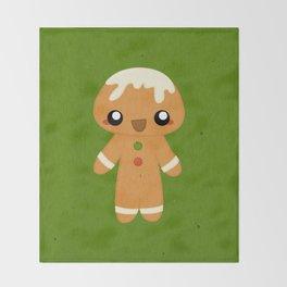 Christmas Card - Gingerbread Kid Throw Blanket
