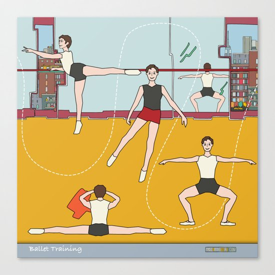 Ballet Training Canvas Print