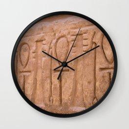 Karnak Temple Ankh carvings Wall Clock