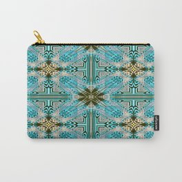 Kaleidoscope No 79 - Olivine Blue Carry-All Pouch