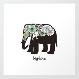 Paisley Elephant - Big Love Art Print