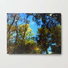 Reflection On The Mullica Metal Print