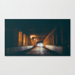 Milwaukee Bridge at Night Canvas Print