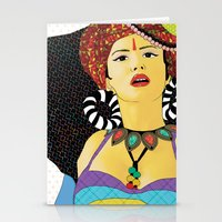 swag Stationery Cards featuring Tribal Swag by LIGHTNING9