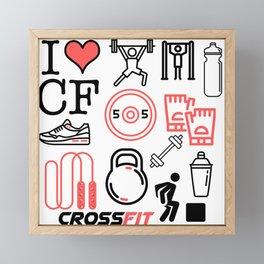 Love Crossfit Framed Mini Art Print