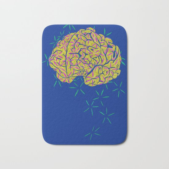 Floral Brain Bath Mat