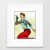 stiles stilinski Framed Art Prints featuring Stiles Stilinski - Wireless Connection by littlecofiegirl