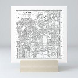 Alhambra & South Pasadena Map Mini Art Print