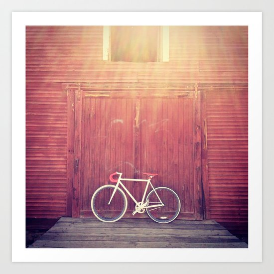 """""""Nothing compares to the simple pleasure of a bike ride."""" Art Print"""