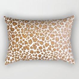 Leopard Spots, Faux Metallic Rectangular Pillow