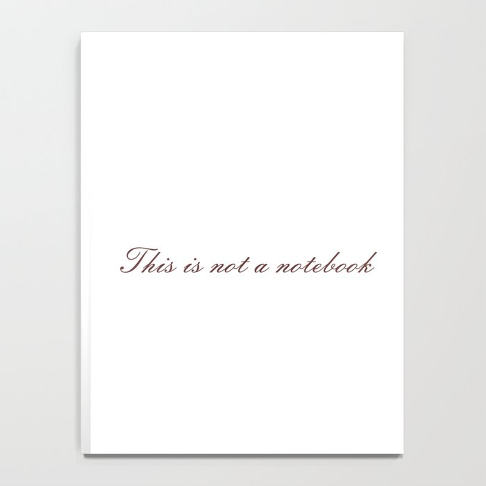 Rene Magritte: This is not a Notebook