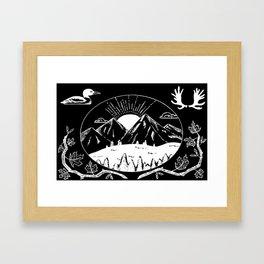Canadian Mountain Range Invert Framed Art Print
