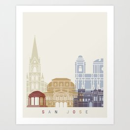 San Jose CR skyline poster Art Print