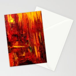 """""""Summer on the Delta"""" Abstract Acrylic by Noora Elkoussy Stationery Cards"""